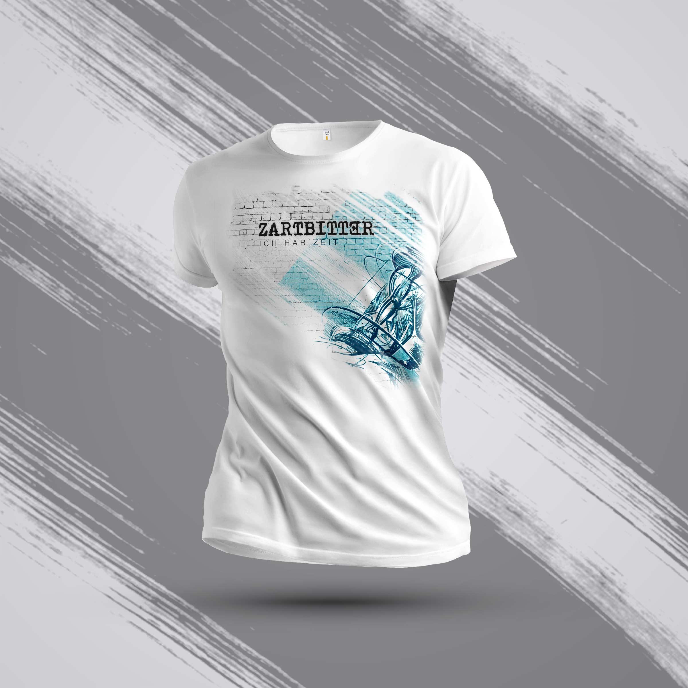 """Kids Shirt Weiß Motiv """"Sanduhr und Brustdruck"""""""