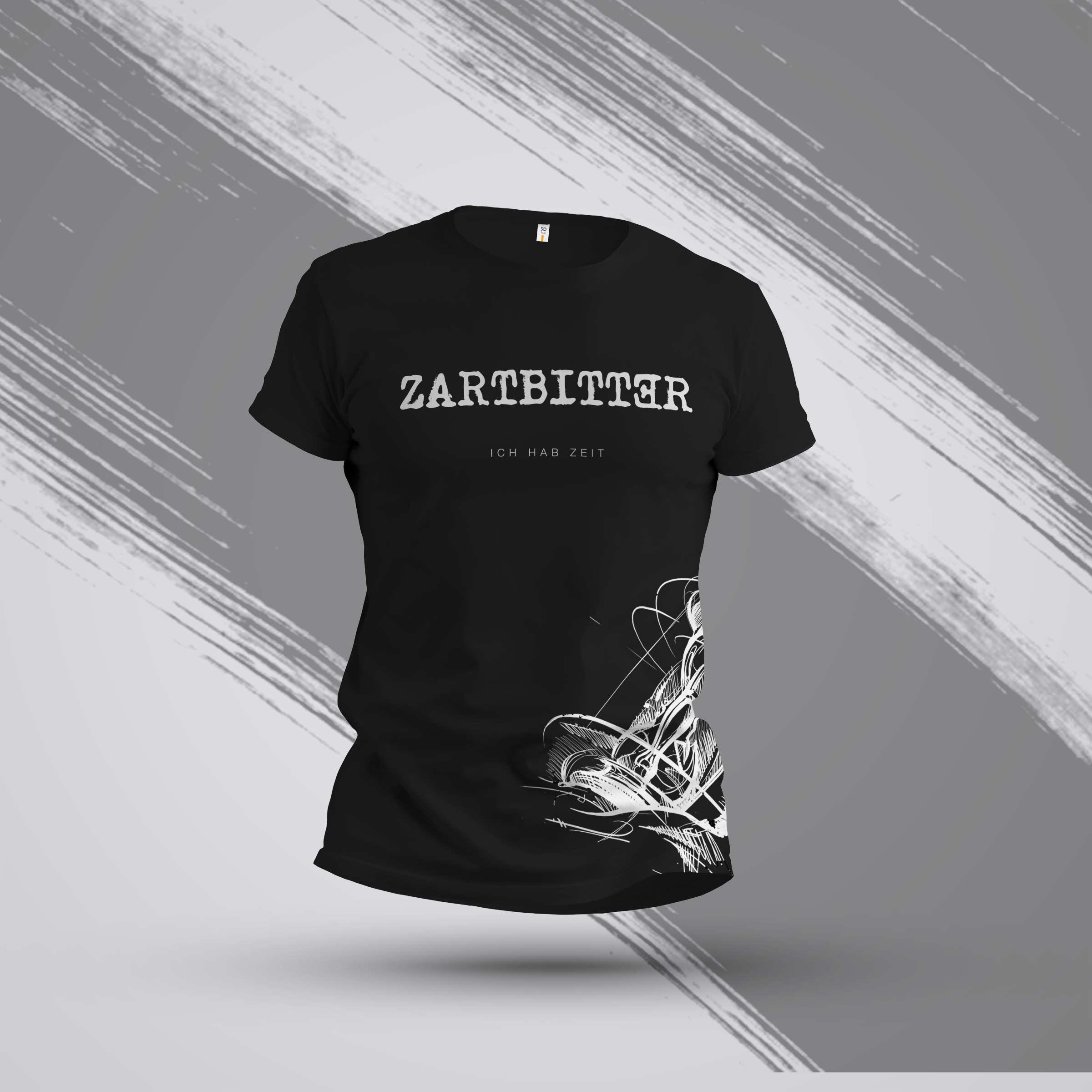 "Shirt Motiv ""Sanduhr und Brustdruck"""